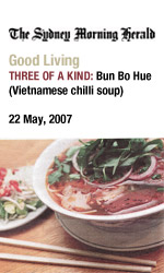 Bau Truong in SMH Good Living, Three of a kind - bun bo hue, Vietnamese chilli soup